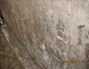 Foundation leaks through unsealed tie-rods