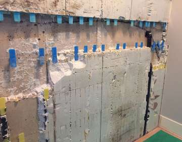 ICF leak from a cold-joint or crack