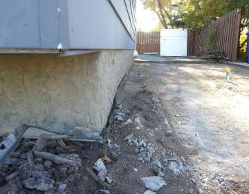 Wood foundation wall that bowed inward (structural problem)