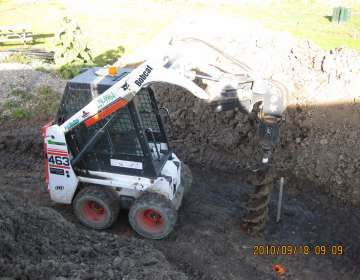 Post Hole Drilling Mini Bobcats
